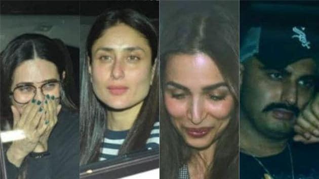Malaika Arora, Arjun Kapoor, Kareena Kapoor cant stop smiling as they head