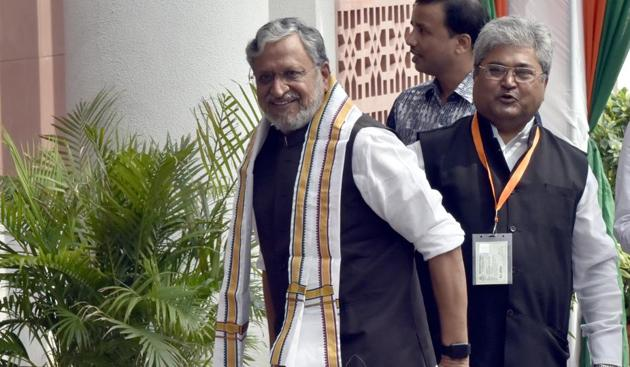 Deputy chief minister cum finance minister of Bihar Sushil Modi(HT File)