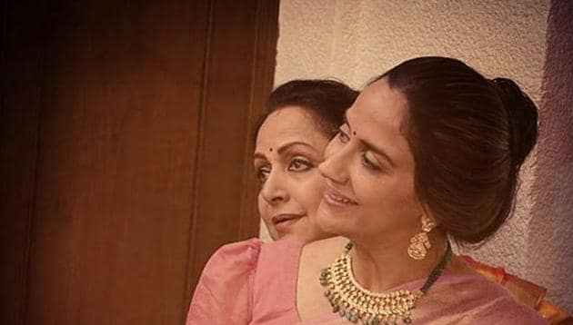 Ahana Deol shared this picture with her mother on Instagram.