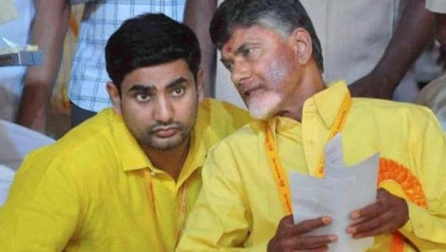 Andhra Pradesh chief minister N Chandrababu Naidu's son and state IT minister Nara Lokesh will lead a delegation of officials and industrialists to the World Economic Forum at Davos in Switzerland.(PTI)