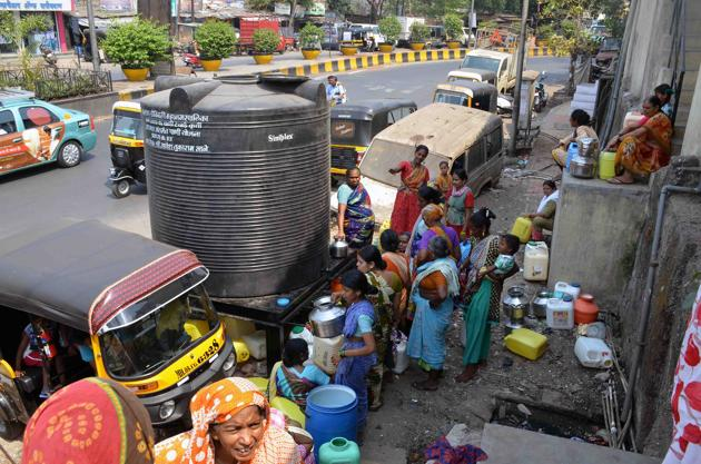 Residents have been dealing with the problem of erratic water supply since the past two years.(HT FILE)