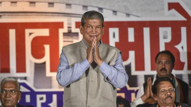 Former Uttarakhand chief minister Harish Rawat said Ram temple will be built in Ayodhya when Congress comes to power at the Centre.(PTI)