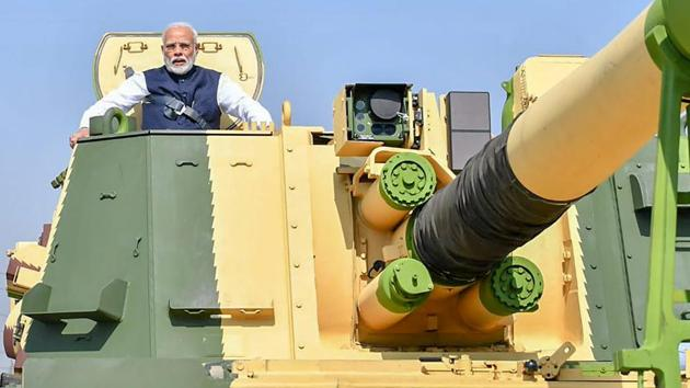 L&T had in 2017 won the Rs 4,500-crore contract from the Ministry of Defence to supply 100 units of K9 Vajra-T 155 mm/52 calibre tracked self-propelled gun systems to the Indian Army under the Centre's 'Make in India' initiative.(PTI)