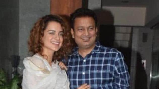Manikarnika producer Kamal Jain with Kangana Ranaut.