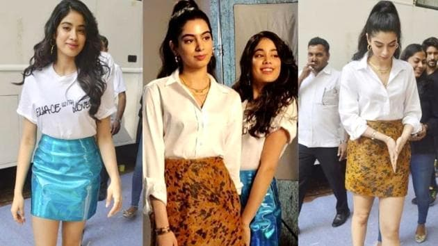 Janhvi Kapoor and Khushi Kapoor's skirt ensembles from their BFFs with Vogue episode create just enough drama, while still be being modest. (Instagram)