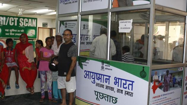 The Union government will fund the entire treatment for beneficiaries of Ayushman Bharat-Pradhan Mantri Jan Arogya Yojana (AB-PMJAY) even if their states have pulled out of scheme for some reason.(Yogendra Kumar/HT PHOTO)