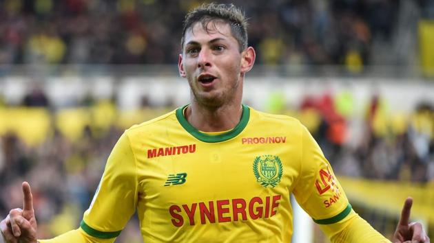 Cardiff City's new signing Emiliano Sala in flight that went missing over English...