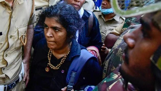 Kanakadurga, a mother of two, had angered her family after they said she kept them in the dark about her plan to trek to the temple.(PTI/File Photo)