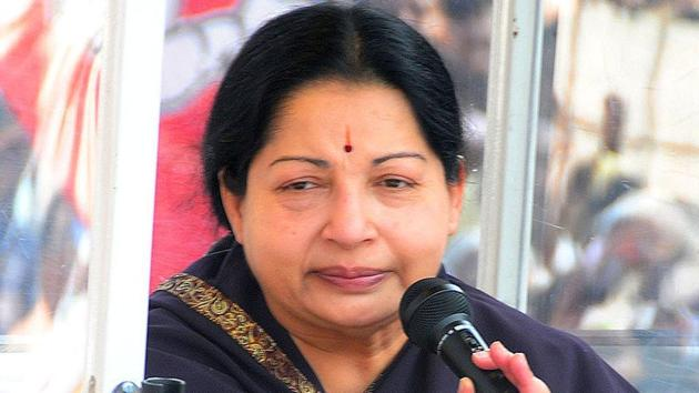 Tamil Nadu chief minister J Jayalalithaa.(HT file photo)