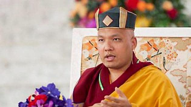 17th Karmapa Ogyen Trinley Dorje performs prayers in Gaya.(PTI File Photo)