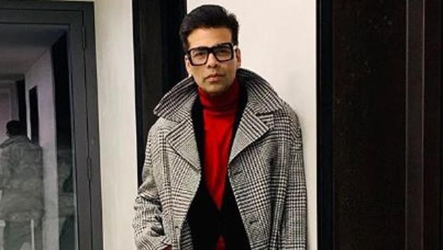 Karan Johar's winter fashion at the World Economic Forum in Davos is on point.(Karan Johar/Instagram)