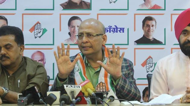 """""""The government selectively and discriminatorily expresses helplessness in taking action,"""" said Congress leader Abhishek Manu Singhvi.(HT PHOTO)"""