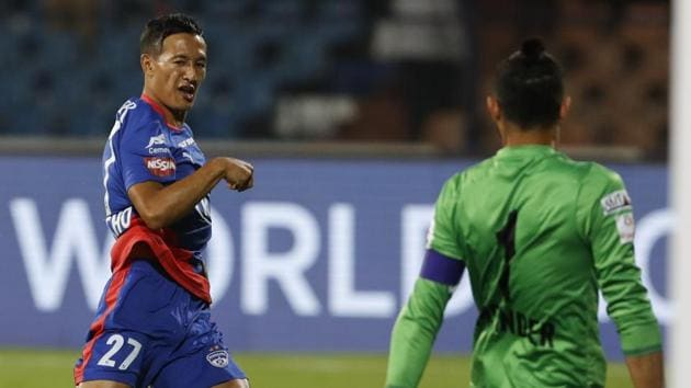 File image of Bengaluru FC's Chencho Gyeltshen in action during a match.(AP)