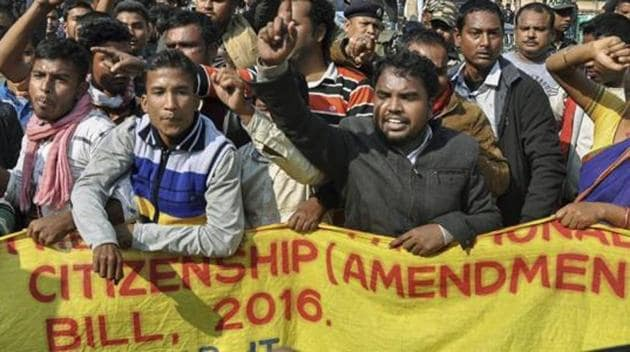Activists of various indigenous organizations stage a protest rally in front of Assam Secretariat against the Citizenship (Amendment) Bill, 2016, in Guwahati, Wednesday, Jan 9, 2019.(PTI File Photo/Representative Image)
