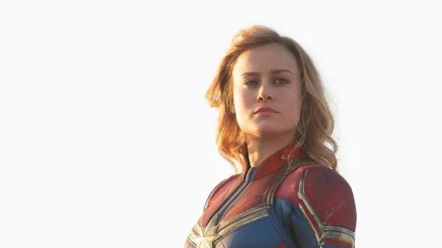 Captian Marvel features Brie Larson in the lead role.