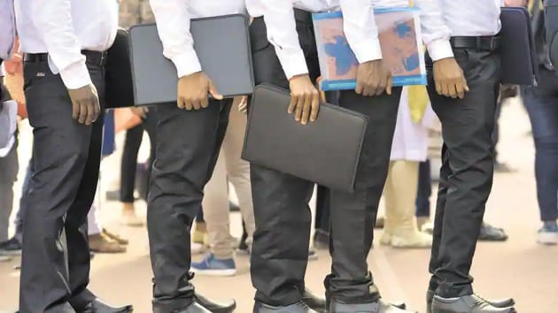 The assessment by the National Sample Survey Office conducted between July 2017-June 2018, showed the unemployment rate stood at 6.1 percent, the highest since 1972-73, Business Standard reported.(HT Photo)