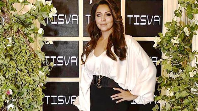 Gauri Khan was spotted wearing a Sachin & Babi dress, priced at Rs 42,315, at Lakme Fashion Week 2019. (Instgaram)