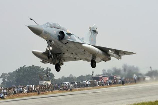 An Indian Air Force Mirage 2000 fighter jet.(PTI file photo)