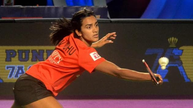 File image of India shuttler PV Sindhu.(PTI)