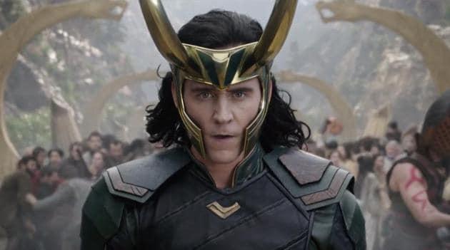 Tom Hiddleston as Loki in a still from Thor: Ragnarok.