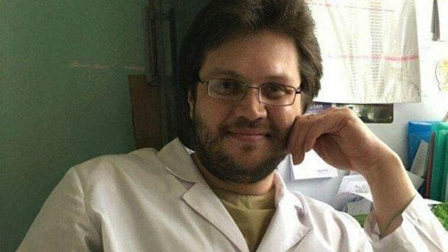 """The man named by media as Boris Kondrashin was able to work as a doctor despite being sentenced to compulsory medical treatment in 2000 """"after committing an especially serious crime,"""" investigators said.s(Gennady Simanovs/Twitter)"""