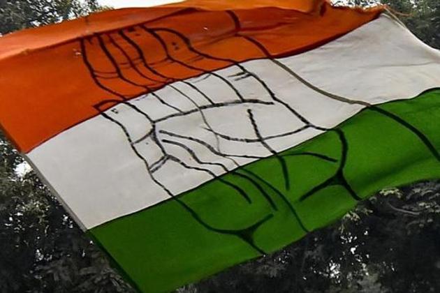 A Congress party flag in New Delhi.(PTI File Photo)