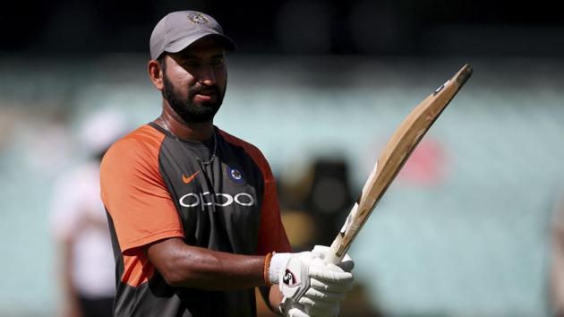 File image of India cricketer Cheteshwar Pujara.(AP)
