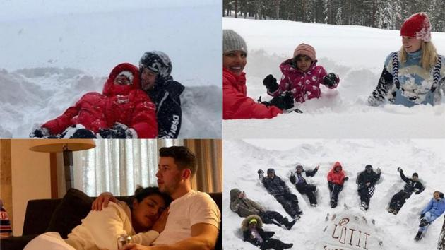 Priyanka Chopra and Nick Jonas shared several pictures from their vacation in California.
