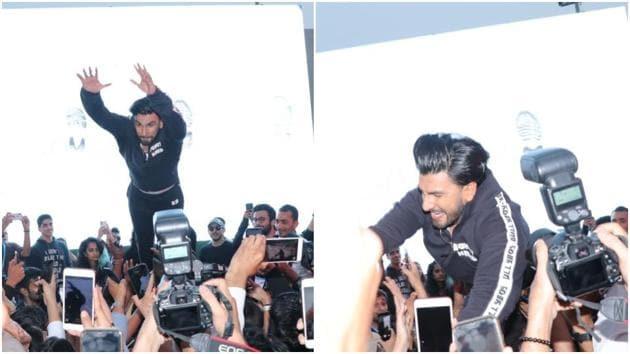 Ranveer Singh has been into crowdsurfing lately.(Varinder Chawla)