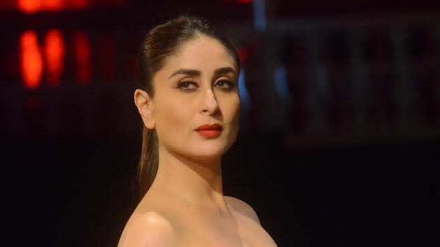 Mumbai: Actress Kareena Kapoor Khan showcases the creation of fashion designers Shantanu and Nikhil during Lakme Fashion Week (LFW) Summer/Resort 2019 in Mumbai, on Feb 3, 2019. (Photo: IANS)(IANS)