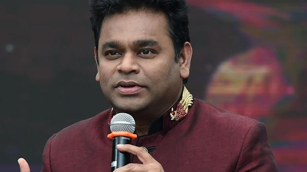 Indian music director AR Rahman speaks during an event to celebrate ten years since winning the Oscar award for Best Original Score in 2009 for the film Slumdog Millionaire, in Mumbai on February 4, 2019.(AFP)