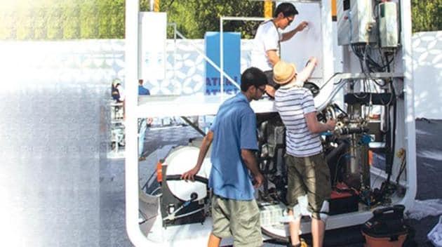 Preparations for the Re-invent the Toilet Fair, New Delhi, 2014.(Bill & Melinda Gates Foundation/PrashantPanjiar)