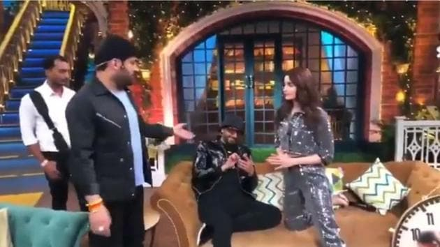 Ranveer Singh and Alia Bhatt visited The Kapil Sharma Show to promote their film Gully Boy.(Twitter)