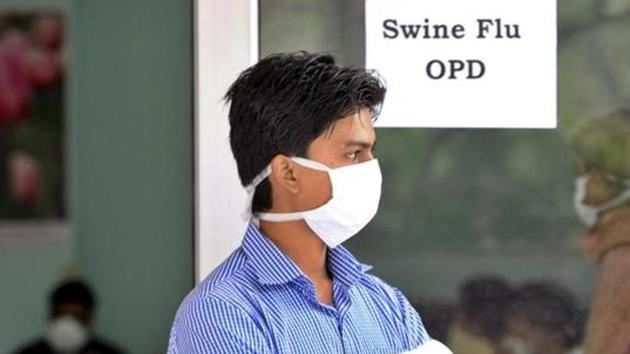 6,601 cases of swine flu had been recorded across India by February 3 this year.(HT/File Photo)