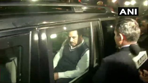 Congress chief Rahul Gandhi's brother-in-law Robert Vadra was questioned for more than nine hours by the Enforcement Directorate in connection with a money laundering case.(ANI/Twitter)