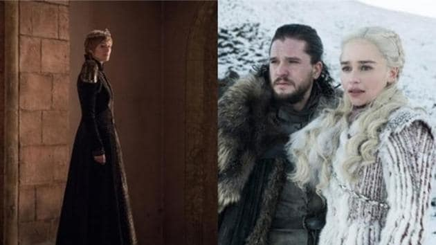 Cersei, Jon Snow, Daenerys in Game of Thrones season 8.