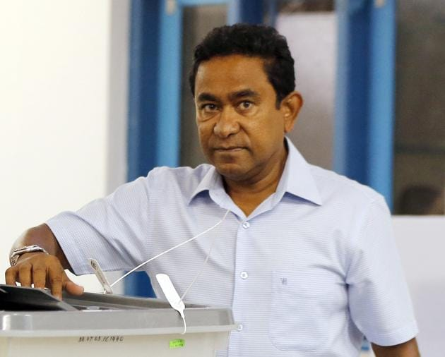 A Maldives court on Monday ordered the arrest and detention of former strongman president Abdulla Yameen on money laundering charges.(AP)
