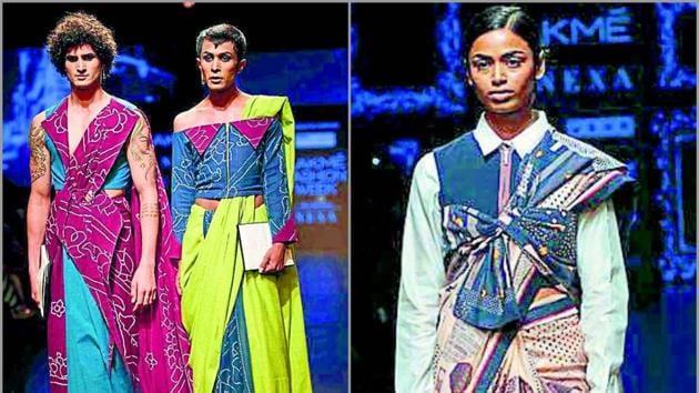 Lakmé Fashion Week Summer/Resort 2019 showcased an eclectic mix of sari drapes