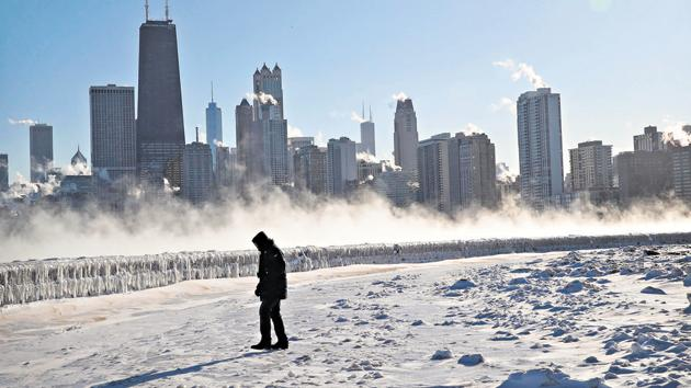 While scientists are always wary of linking climate change directly to extreme weather events, there is enough evidence to suggest that severe cold weather events — such as the polar vortex that has currently engulfed North America — can be caused by anthropogenic (human-made) climate change(AFP)