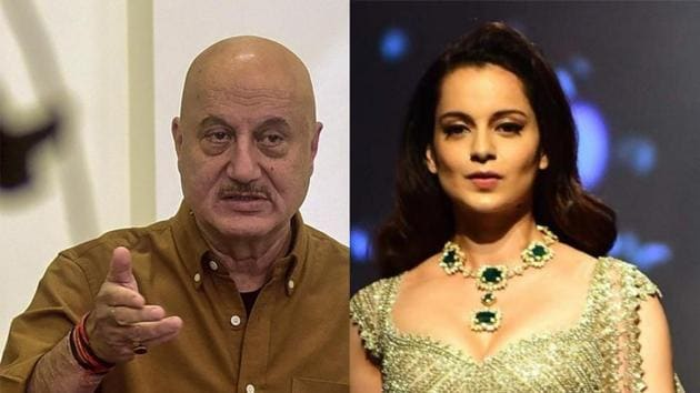Anupam Kher tweeted in support of Kangana Ranaut after a fan requested him to do so.(PTI/IANS)