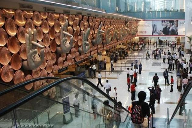 The Delhi airport, which handled about 70 million passengers in 2018, is the fastest growing airport in the world.(HT Photo)