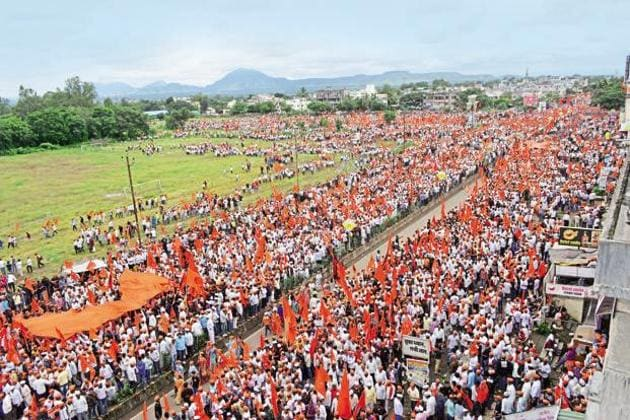 Maharashtra announced reservation for the Maratha community both jobs and education following protests.(HT File)