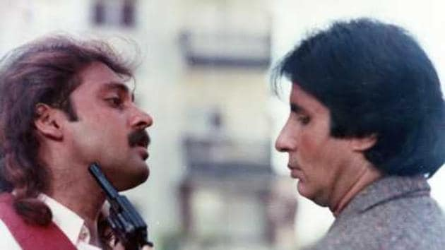 Mahesh Anand and Amitabh Bachchan in a still from Akayla.