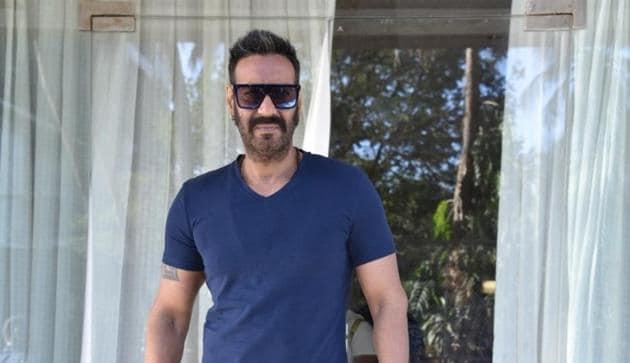 Actor Ajay Devgn ahead of an interview regarding Total Dhamaal in Mumbai.(IANS)