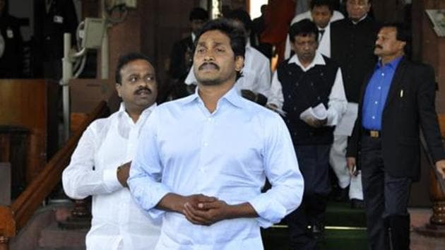 Jagan Reddy had requested chief election commissioner of India Sunil Arora at a meeting in Delhi on February 4 to take a fresh look at the published rolls and re-include the voters eliminated allegedly at the behest of the ruling Telegu Desam Party.(Sonu Mehta/Hindustan Times)