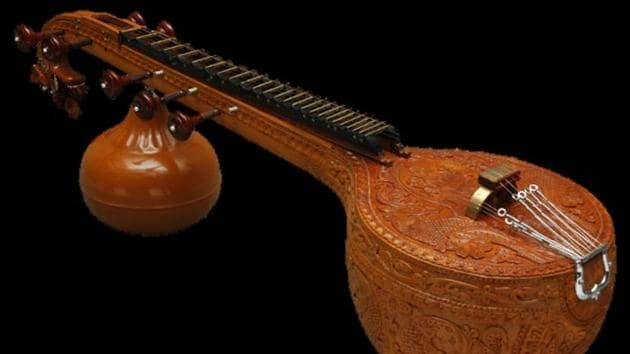 The practice of playing the veena, Saraswati's chosen instrument, is fading away.(Courtesty: Wikipedia)