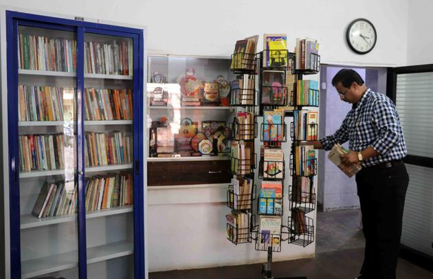 Each reading centre has a display unit, a cabinet with books, seating facilities and CCTV cameras keeping a vigil eye.