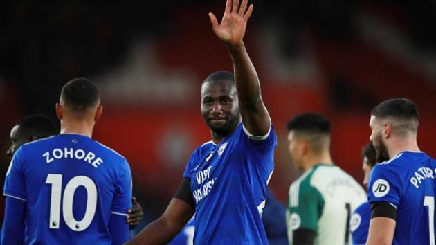 Cardiff City's Sol Bamba celebrates after the match(REUTERS)