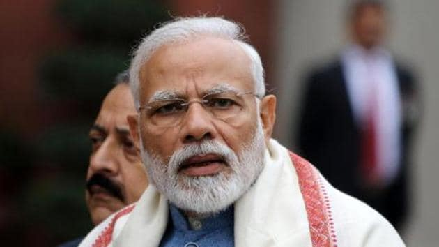 Prime Minister Narendra Modi will interact with Bharatiya Janata Party workers at 9 lakh polling stations on February 28.(Bloomberg)