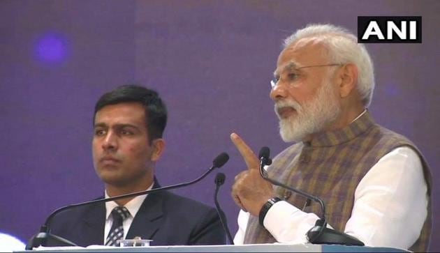 Prime Minister Narendra Modi at Petrotech 2019 in Greater Noida.(ANI)